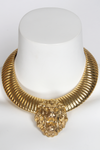 1990s Gold Lion Necklace