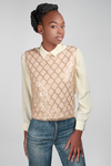 1950s Diamond Fence Sweater
