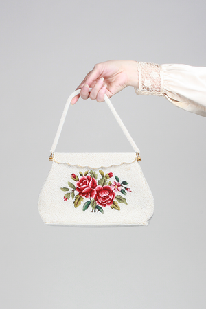 1950s Blood And Roses Handbag