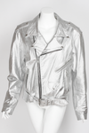 1980s White Lighting Motorcycle Jacket