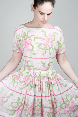 1950s Honeysuckle Rose Dress