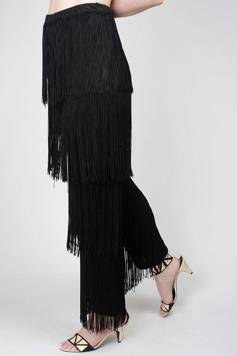1980s Shimmy Fringe Pants