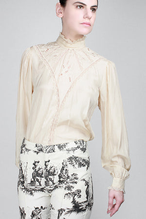 1970s Arsenic And Lace Blouse