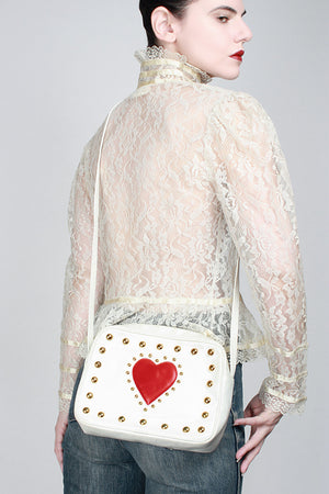 1980s Queen Of Hearts Purse