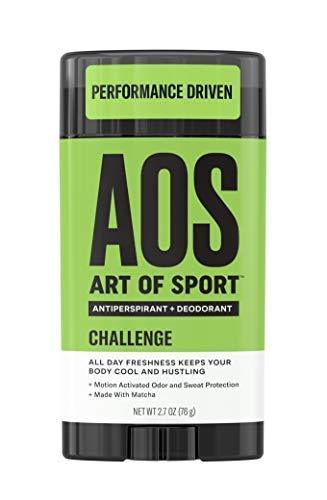 Art of Sport Men's Antiperspirant Deodorant Stick (2-Pack)| Challenge Scent| Athlete-Ready Formula with Matcha| 2.7 oz - beauty-price-match