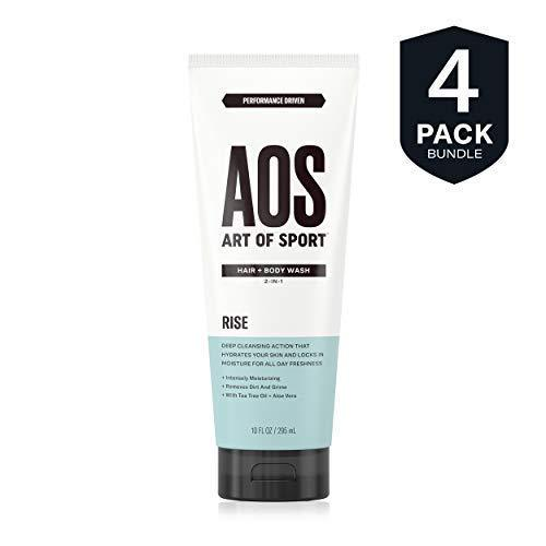 Art of Sport Men's Body Wash with Tea Tree Oil and Aloe Vera| Rise Scent| Dermatologist-Tested| Paraben-Free| Hypoallergenic| Moisturizing Shower Gel| 10 oz - beauty-price-match