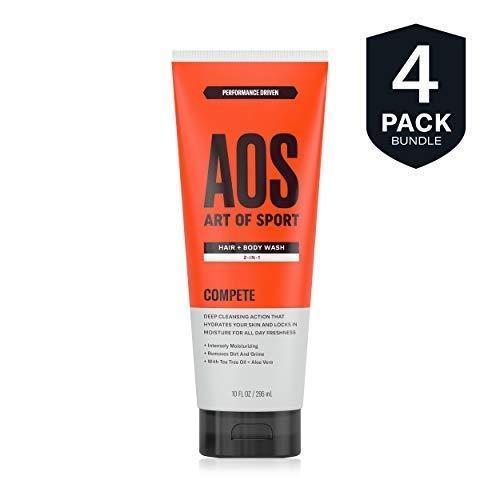 Art of Sport Men's Body Wash with Tea Tree Oil and Aloe Vera| Compete Scent| Dermatologist-Tested| Paraben-Free| Hypoallergenic| Moisturizing Shower Gel| 10 oz - beauty-price-match