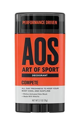 Art of Sport Men's Deodorant Clear Stick  Compete Scent| Aluminum Free | UPC: 855502008029 - beauty-price-match