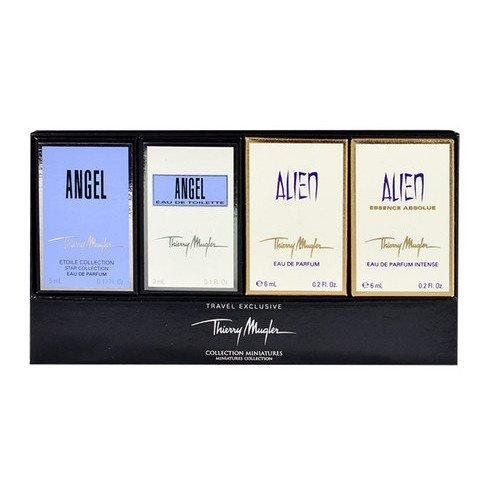 Thierry Mugler Mini Variety Collection for Women (Angel EDP 0.17 oz, Angel EDT 0.1 oz, Alien EDP 0.2 oz, Alien Essence Absolute EDP 0.2 oz.) - beauty-price-match