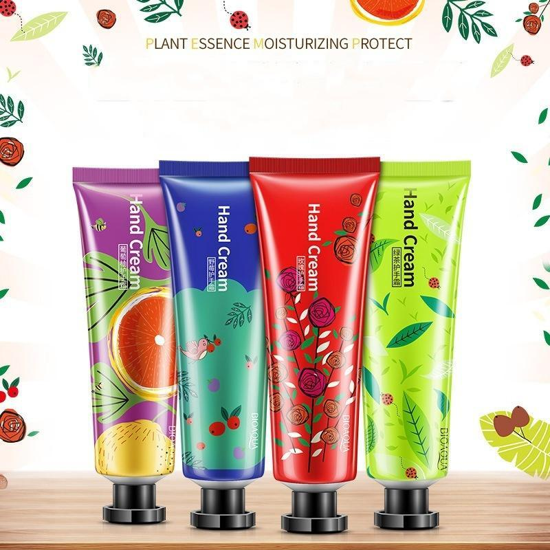 Nourishing Moisturizing Plant Extract Cute Hand Cream Hand Care 1 PC Fragrance Fruit Rose Oil Control 30g - beauty-price-match