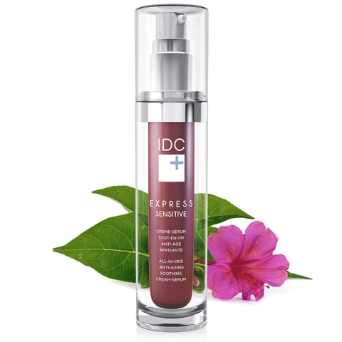 All-in-One Anti-Aging Cream Serum EXPRESS SENSITIVE to Soothe and Reverse Sensitive Skin by IDC DERMO