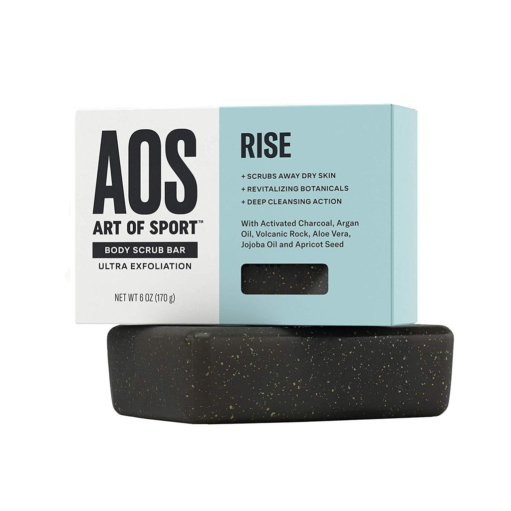 Art of Sport Exfoliating Soap Body Scrub Bar (2-pack)| Rise Scent| with Jojoba Oil| Argan Oil| Volcanic Rock| Aloe Vera and Activated Charcoal| Ultra Exfoliation and Intensely Moisturizing| 6 oz | UPC: 855502008531 - beauty-price-match