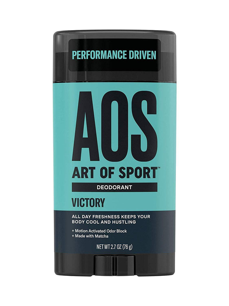 Art of Sport Men's Deodorant Clear Stick| Victory Scent| Aluminum Free| Made with Matcha| 2.7oz | UPC: 855502008524 - beauty-price-match