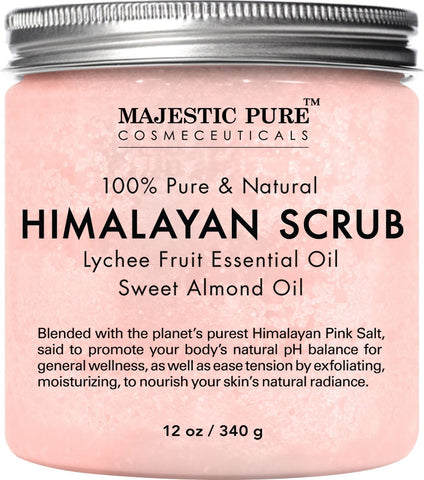 Majestic |  Pure Himalayan Salt Body Scrub | Lychee | TRENDING PRODUCTS - beauty-price-match