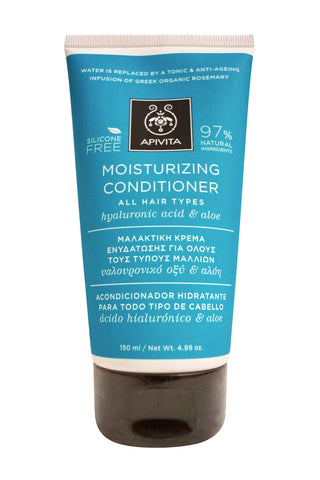Moisturizing Conditioner with Hyaluronic Acid & Aloe (For All Hair Types) - 150ml/4.99oz | BUY APIVITA ONLINE - beauty-price-match