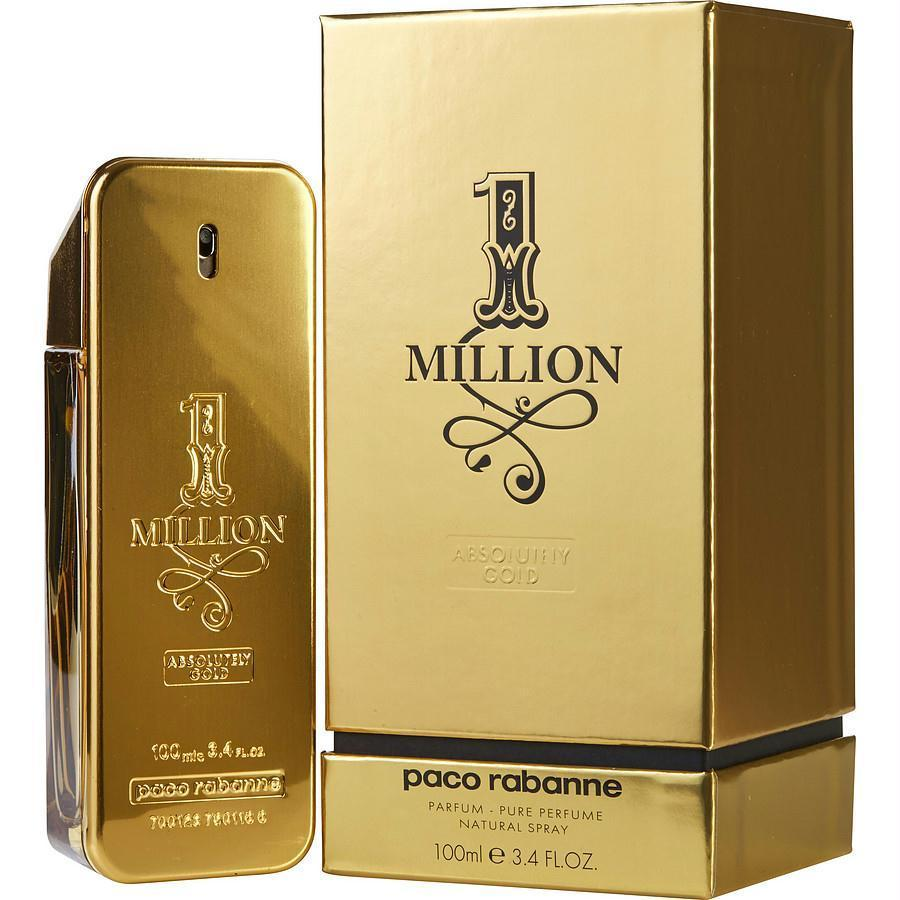 Paco Rabanne 1 Million Absolutely Gold By Paco Rabanne Pure Parfum Spray 3.4 Oz - beauty-price-match