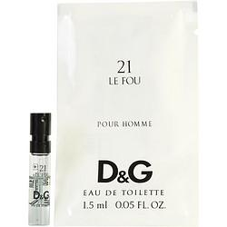 D & G 21 Le Fou By Dolce & Gabbana Edt Spray Vial - Buy Beauty Products