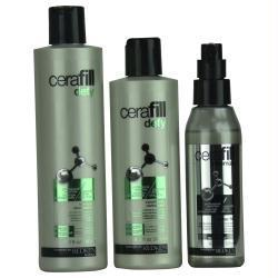 3 Piece Set-- Cerafill Defy Instant Thickening Kit For Normal To Thin Hair ( Defy Shampoo 9.8 Oz + Defy Conditioner 8.3 Oz + Dense Fx 4.2 Oz) - beauty-price-match