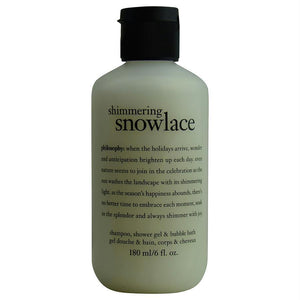 Shimmering Snow Lace Shampoo, Shower Gel & Bubble Bath --6oz - beauty-price-match
