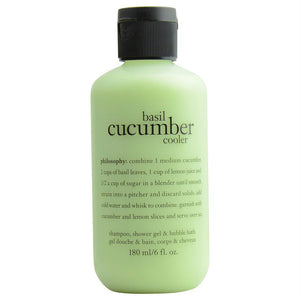 Basil Cucumber Cooler, Shampoo, Shower Gel & Bubble Bath --6oz - beauty-price-match