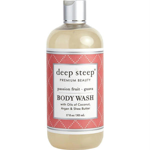 Deep Steep Passionfruit-guava Shea Butter Body Wash 17 Oz By Deep Steep - beauty-price-match