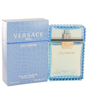 Versace Man by Versace Eau Fraiche Eau De Toilette Spray (Blue) 3.4 oz - beauty-price-match
