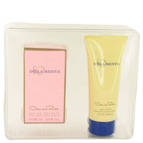 SO DE LA RENTA by Oscar de la Renta Gift Set -- 3.4 oz Eau De Toilette spray + 6.7 oz Body Lotion - Buy Beauty Products