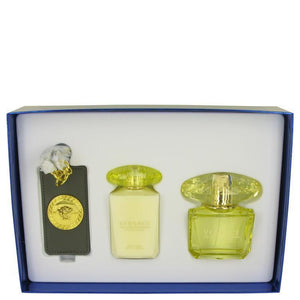 Gift Set -- 3 oz Eau De Parfum Spray + 3.4 oz Body Lotion + Versace Bag Tag - beauty-price-match