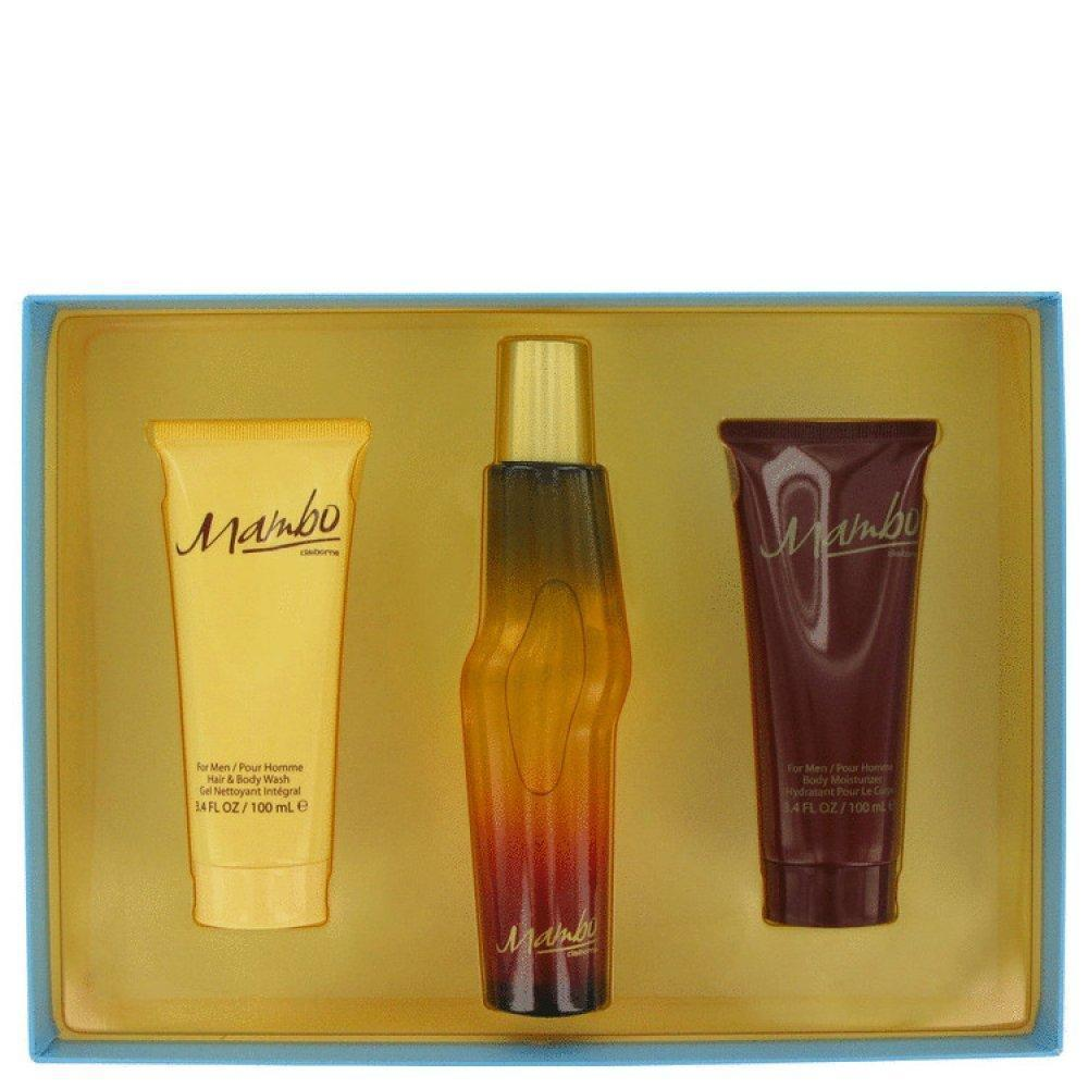 Mambo By Liz Claiborne Gift Set 3.4 Oz Cologne Spray + 3.4 Oz Body Wash + 3.4 Oz Body Moisturizer 446326 - beauty-price-match
