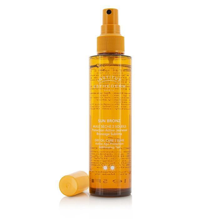 Sun Bronz Dry Oil Care 2 Suns Active Age Protection Sublimating Tan - Moderate Sun - For Body & Hair - 150ml-5oz | LIMITED STOCK - beauty-price-match