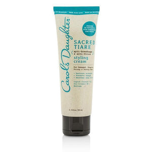 Sacred Tiare Anti-Breakage & Anti-Frizz Blow Dry Cream (For Damaged, Fragile, Frizzy & Unruly Hair) - 90ml-3oz - beauty-price-match