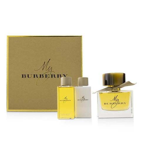 My Burberry Coffret: Eau De Parfum Spray 90ml-3oz + Body Lotion 75ml-2.6oz + Bathing Gel Gel 75ml-2.6oz - 3pcs - Buy Beauty Products
