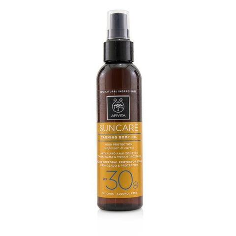 Suncare Tanning Body Oil SPF 30 With Sunflower & Carrot - 150ml-5oz - Buy Beauty Products