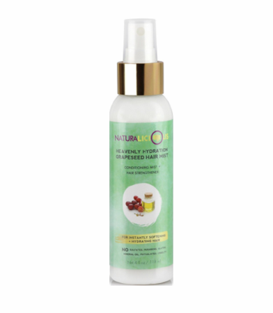 Naturalicious - Heavenly Hydration Grapeseed - Hair Mist 4oz (HEARTWARMING STORY ABOUT PROUD BLACK WOMAN CEO)