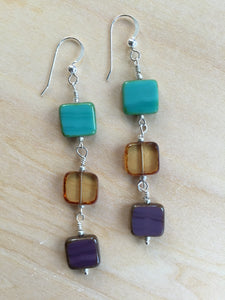 Three Stone Earrings
