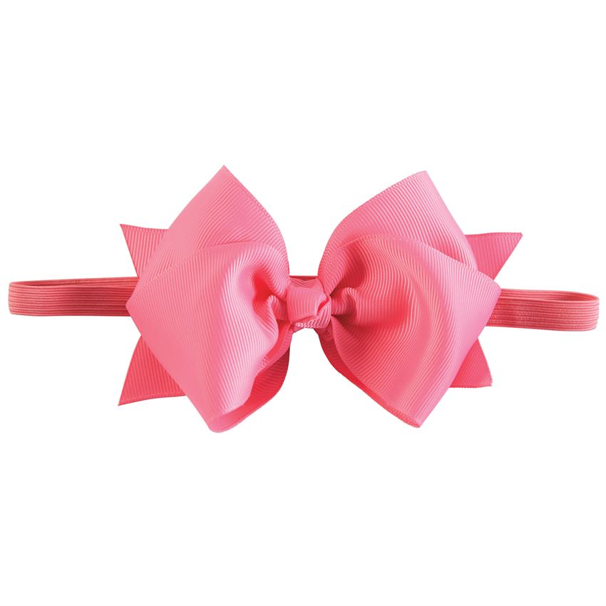 Hot Pink Bow Soft Headband