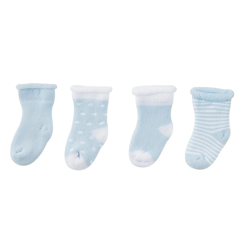 Blue Newborn Sock Set