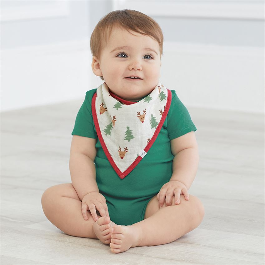 Christmas Muslin Bandana Bib Set - Gatherings Market