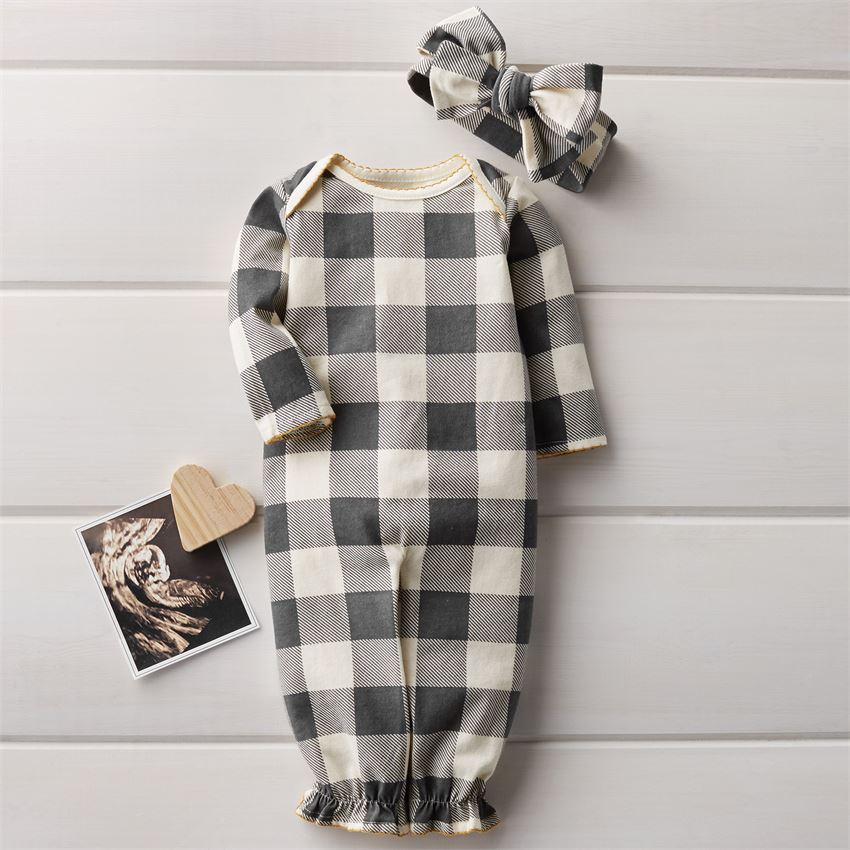 Buffalo Check Gown Set