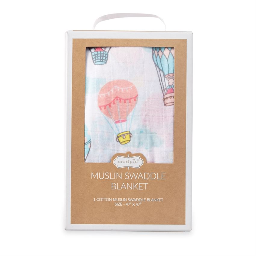 Hot Air Balloon Muslin Swaddle