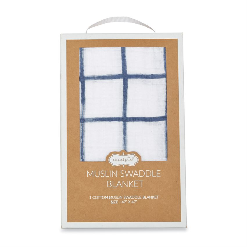 Windowpane Muslin Swaddle