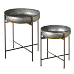 Galvanized and Gold Accent Tables - Gatherings Market