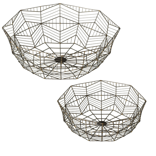 Gunmetal Geo Baskets
