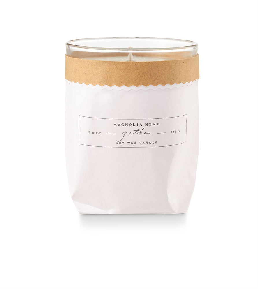 Magnolia Home Kraft Textured Candle - Gather