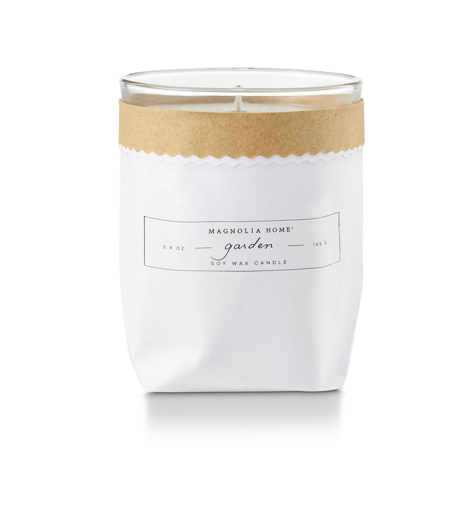 Magnolia Home Kraft Textured Candle - Garden