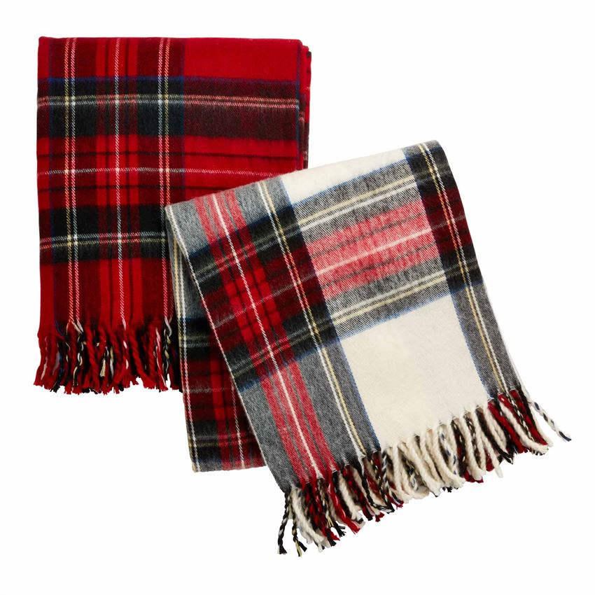 Tartan Fringe Throws