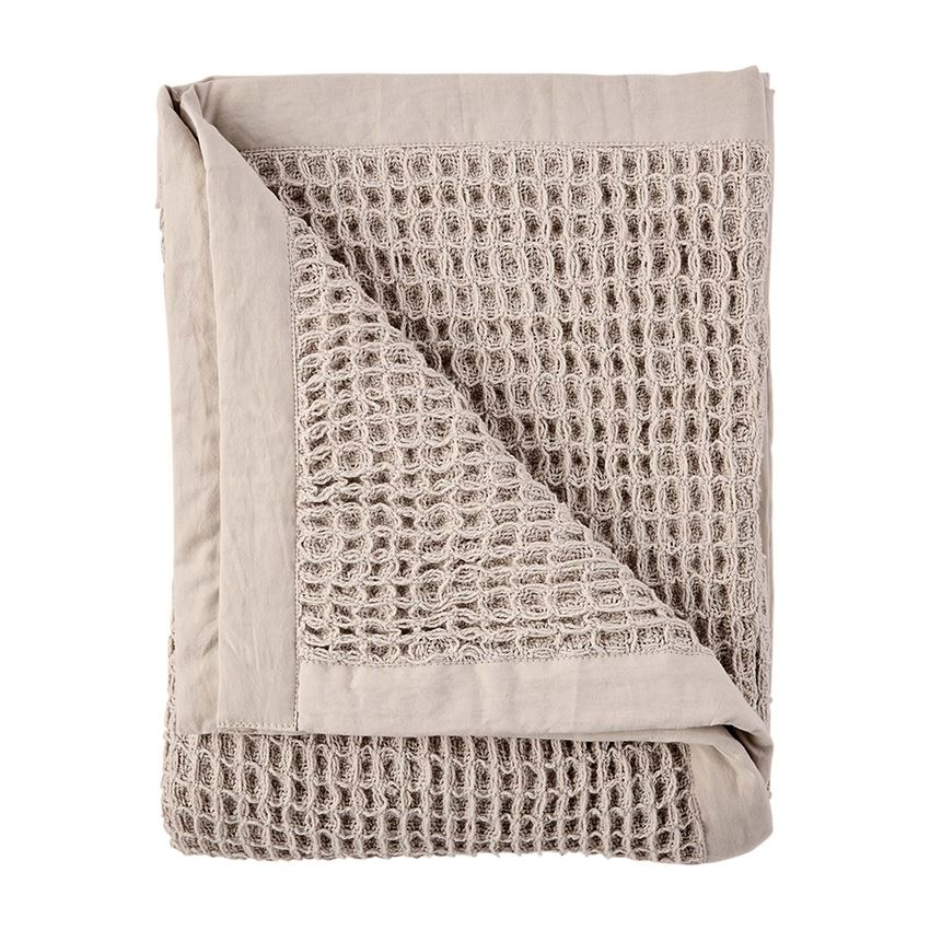 Waffle Weave Blanket - Taupe