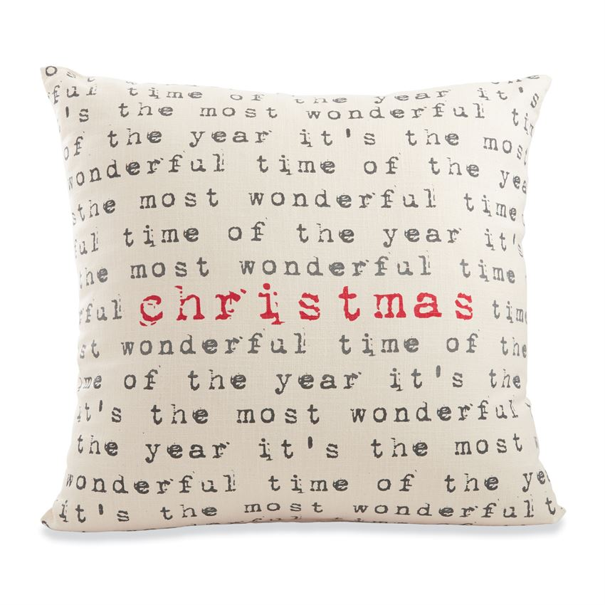 Most Wonderful Time Christmas Pillow