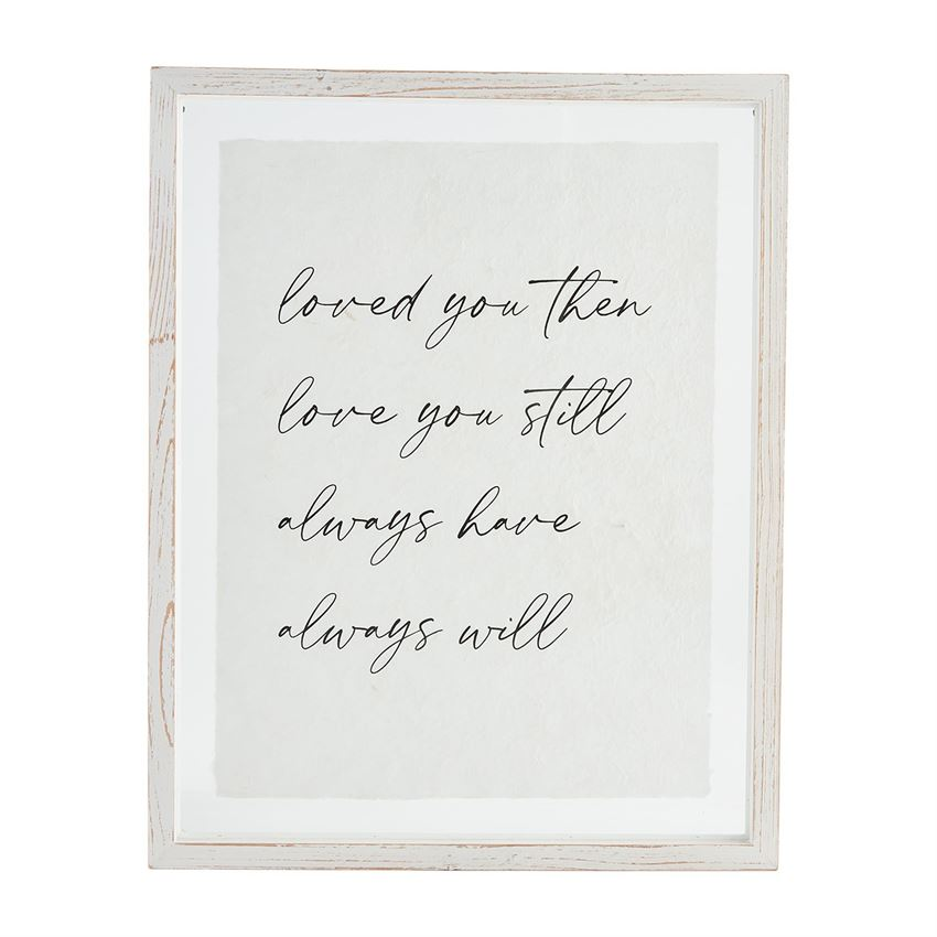 Loved You Then Plaque