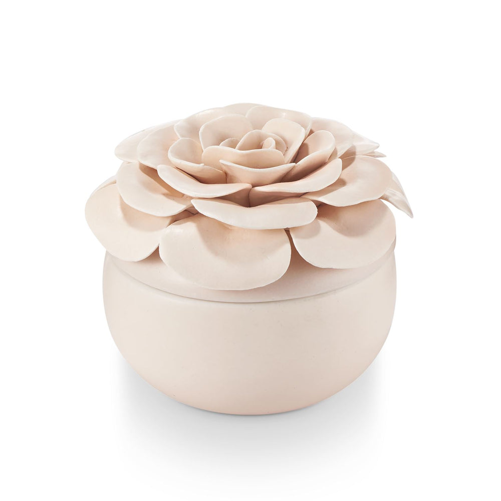 Ceramic Flower Candle - Coconut Milk Mango